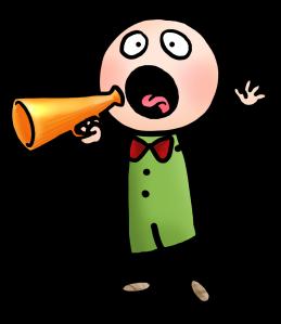 manchen mit megaphone